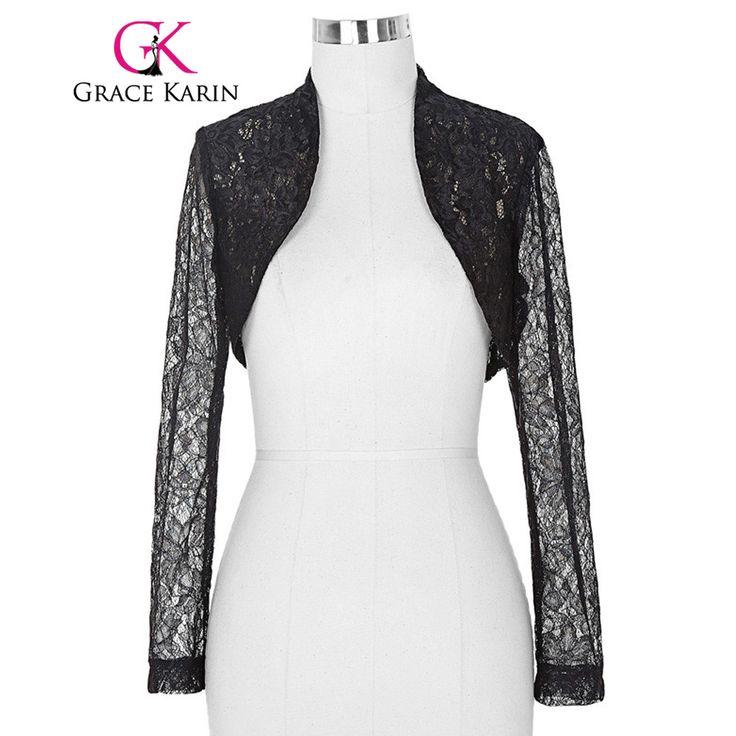 ブライダルラップジャケット2017女性レディース長袖クロップすくめ白黒レースボレロ結婚式アクセサリープラスサイズジャケット