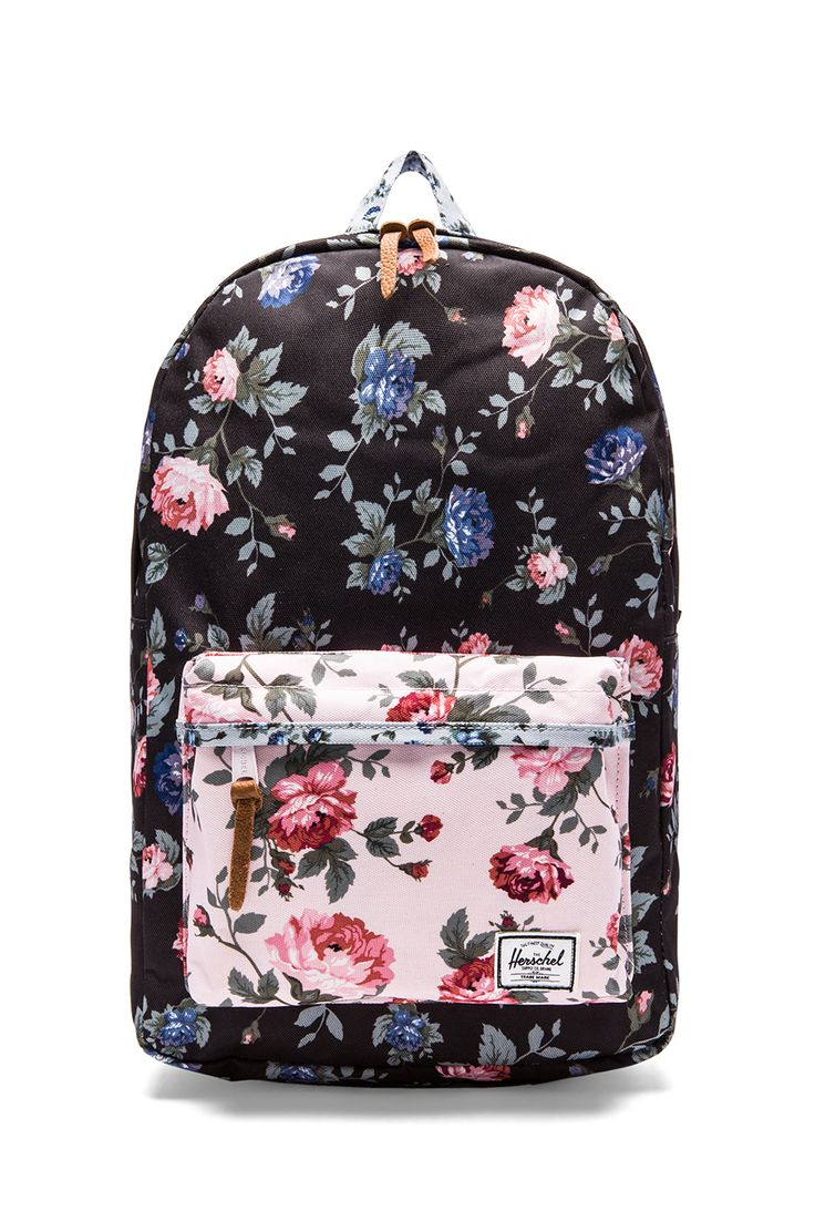Herschel Supply Co. Fine China Collection Heritage Backpack in Black Floral & Pink Floral//