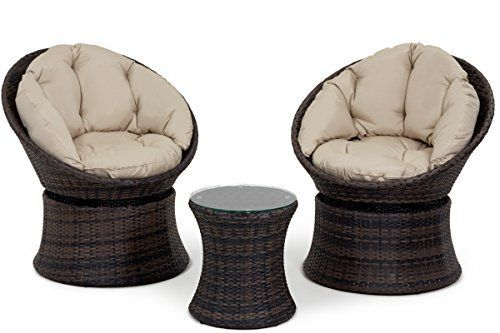 San Diego Rattan Garden Furniture Brown 3 Piece Swivel Lounge Chair Set https://www.uk-rattanfurniture.com/product/san-diego-rattan-garden-furniture-brown-6-seater-round-table-set-with-ice-bucket/