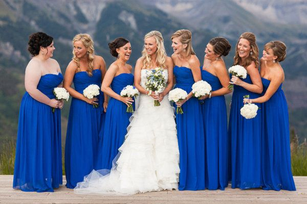 Casablanca Blue | J.Crew Bridesmaid - here is an idea of what that color would look like for a wedding party