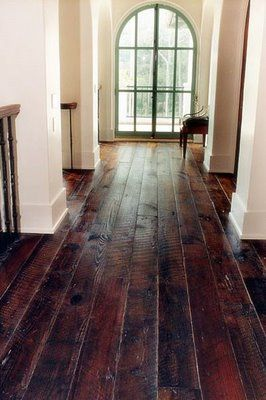 Lovely floors! Love wide planked wooden floors