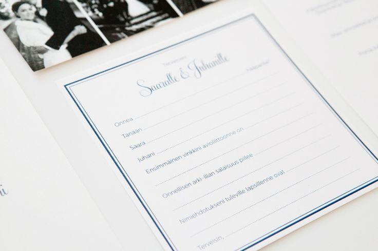 Talvihäiden hääkutsut  -  menu, vieraskirjakortit - Kiitoskortit / MakeaDesign