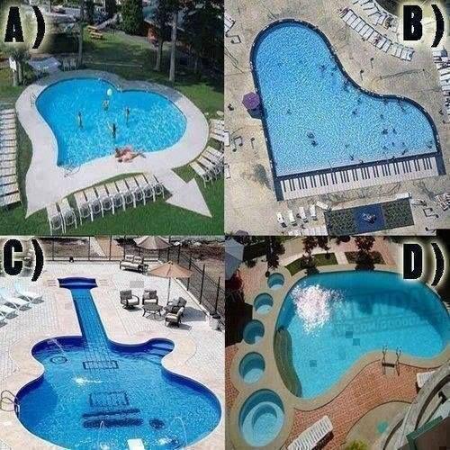 De drôle de piscines !