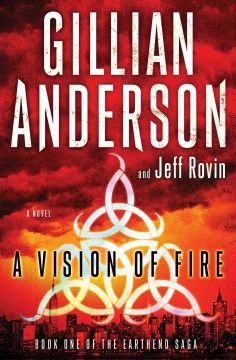 A vision of fire by Gillian Anderson.  Click the cover image to check out or request the science fiction and fantasy kindle.