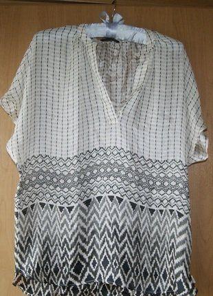 Kup mój przedmiot na #vintedpl http://www.vinted.pl/damska-odziez/bluzki-z-krotkimi-rekawami/18393646-bluzka-lato-jedwabna-r-s-8-36