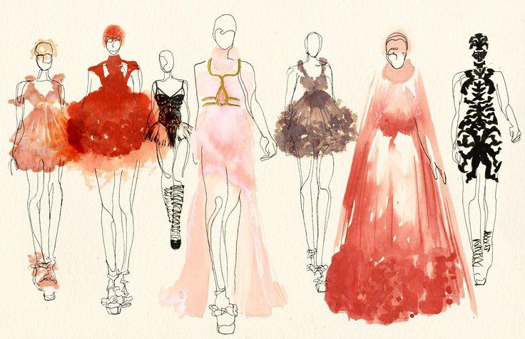 Kimberly Lams- Alexander McQueen collection