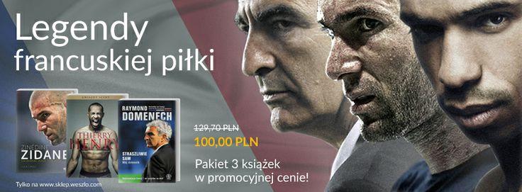 Legendy francuskiej piłki - Niesamowity pakiet 3 książek! Sprawdź na: http://www.sklep.weszlo.com/produkt/1188-pakiet-legendy-francuskiej-pilki #football #futbol #pilka #book #ksiazka #ksiazki #weszlo