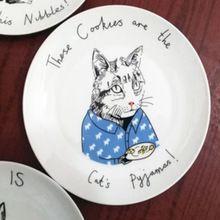 (1 unids) Pastel de Sushi Plato De Ensalada De Cerámica de Cocina de Alta calidad 8 Pulgadas 100% Un Embalaje Seguro HERMOSO ronda DISEÑO de dibujos animados(China (Mainland))