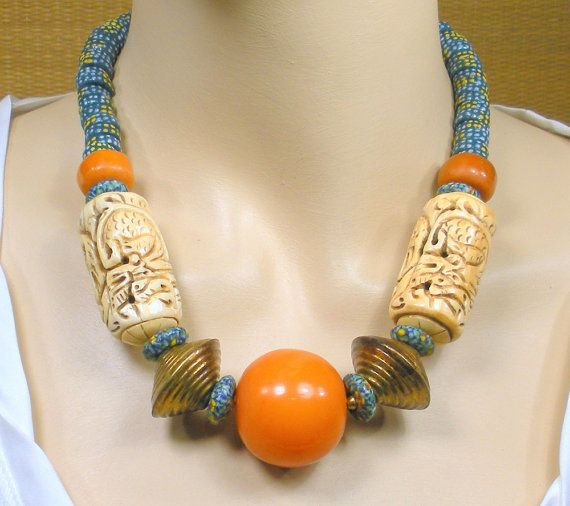 20 Afrocentric collana copal resina di AfricanEchoesJewelry