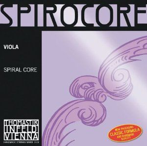 Thomastik Spirocore Viola Strings, Single C String, S22, STARK (Heavy) Tension, 4/4 Size, Steel Core Chrome Wound by Thomastik-Infeld. $21.30. Hi-tech, top grade, spiral steel core strings.  Spirocore strings are a further technical development of our Künstler Seil series and have a flexible spiral steel core. This core has greater elasticity than that of conventional strings, which means less inertia and a higher propensity to musical vibration.  The sound is full an...
