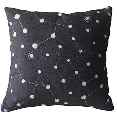 Too black. Hand Painted.  Black and White Dot and the Attachment Decorative Pillow Cover - USD $ 14.99