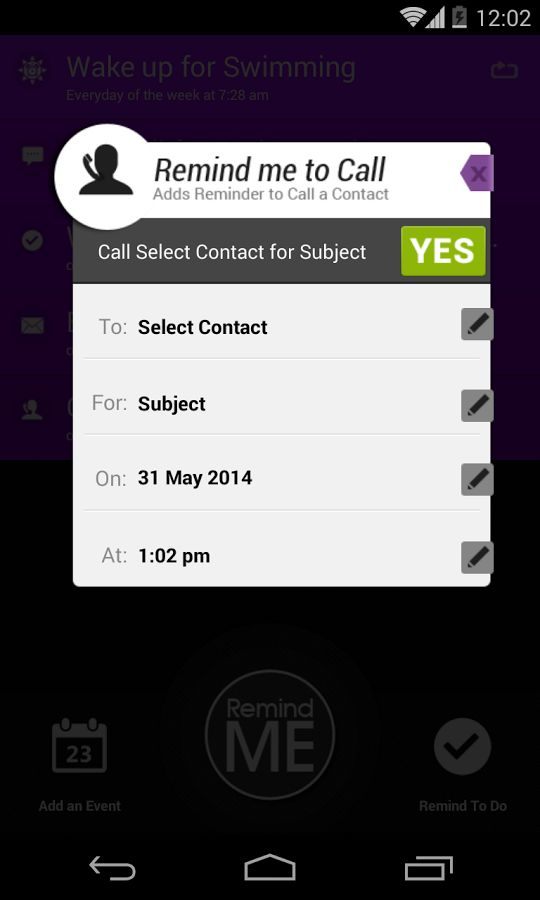 Remind Me to Call, Email, Text screenshot Best Android