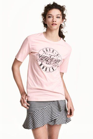 T-shirt avec impression - Rose/Guns N' Roses - FEMME | H&M FR 1