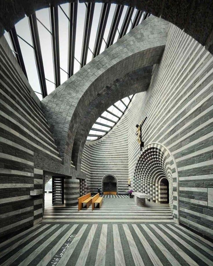 The Church of San Giovanni Battista by Mario Botta | Location: Switzerland