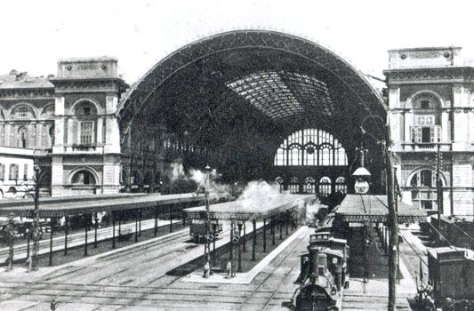 La stazione nel 1908 - foto archivio storico FS