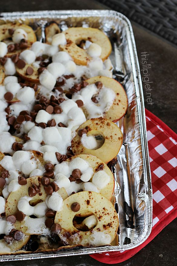 AppleNachoswtklong (Apple Smore Nacho's over the campfire)