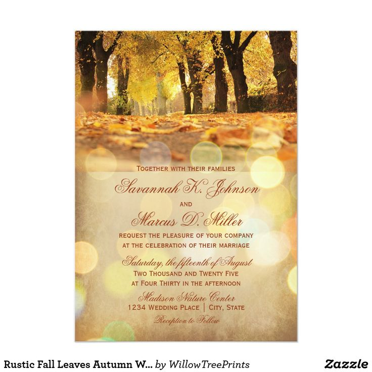 zazzle wedding invitations promo code%0A Rustic Fall Leaves Autumn Wedding Invitations