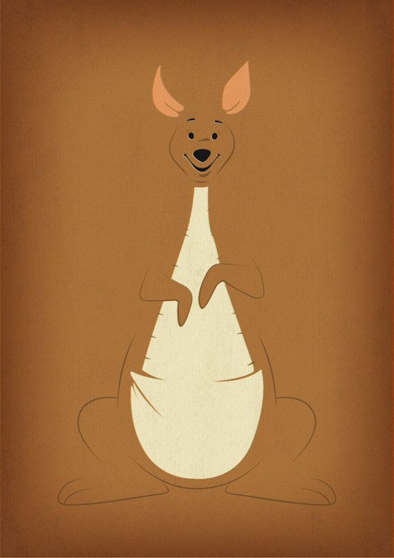 "Winnie the Pooh Decal ""Kanga"" Nursery Decor Printable by TheRetroInc"