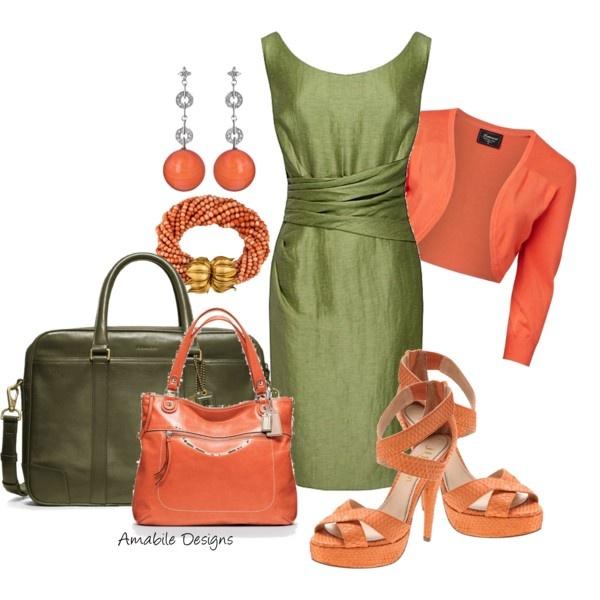 Vibrant work wear - Polyvore