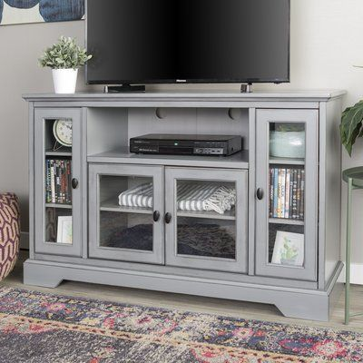 Beachcrest Home Josie 52 Tv Stand Color Tv Stand Wood Living Room Tv Stand Grey Tv Stand