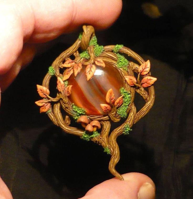 Autumn Soul - handcrafted Pendant by Ganjamira.deviantart.com on @deviantART