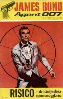 Swedish James Bond comic cover from the late '60's/early '70's.