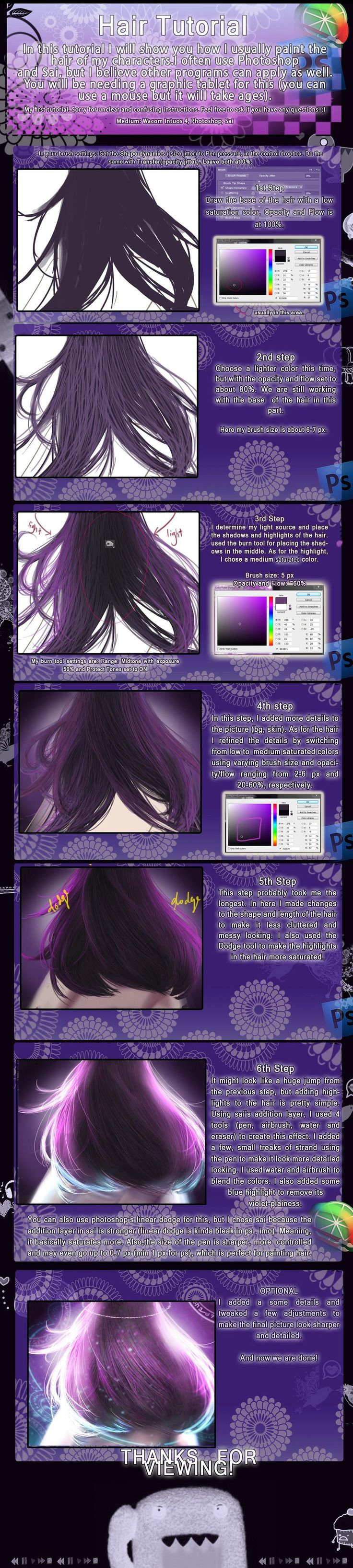 Hair tutorial by ChooeyChoco.deviantart.com