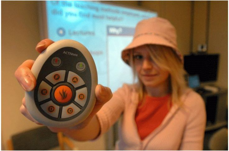 A new electronic voting system in lectures is making a real difference