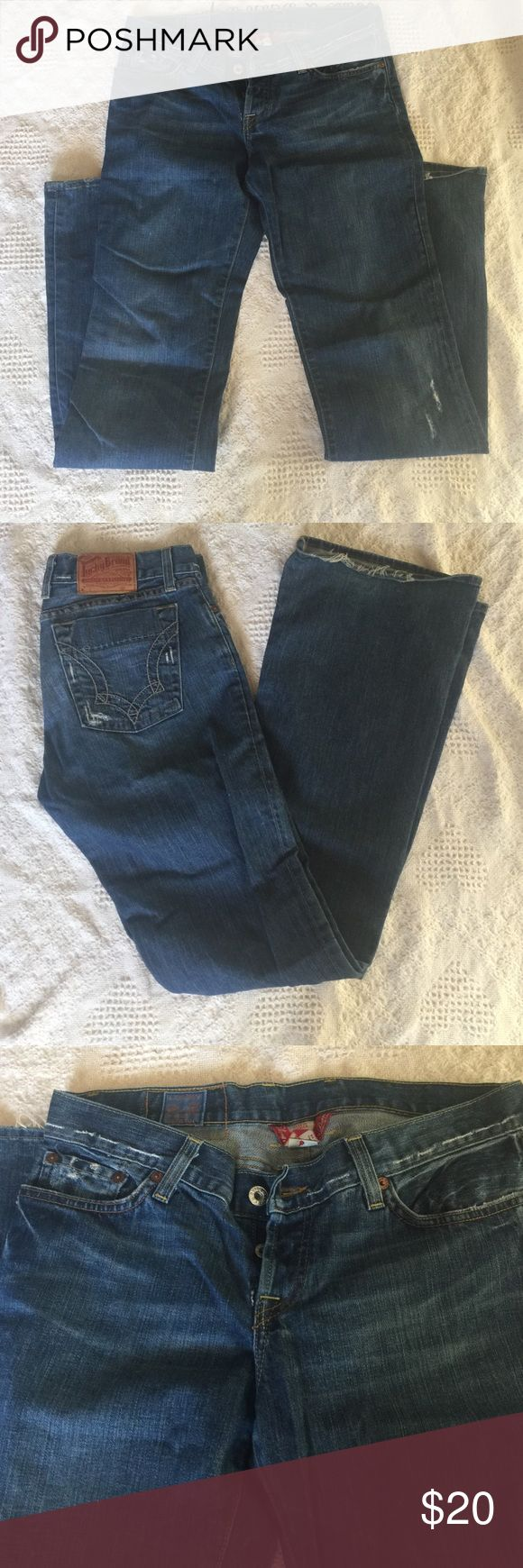 Lucky Brand Jeans Flare leg jeans in good used condition. Fraying on bottom of legs as shown. 8/29 long inseam. Lucky Brand Jeans Flare & Wide Leg