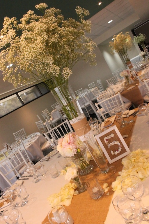 #babysbreath #centrepieces by Kerry Cornes Florist