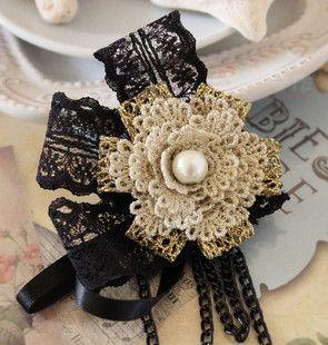 Купить Саншайн ручной полный почтовых ретро кружева ручной работы броши pin цветок женщин брошь соблазнения Евы из категории Броши на Kupinatao.com