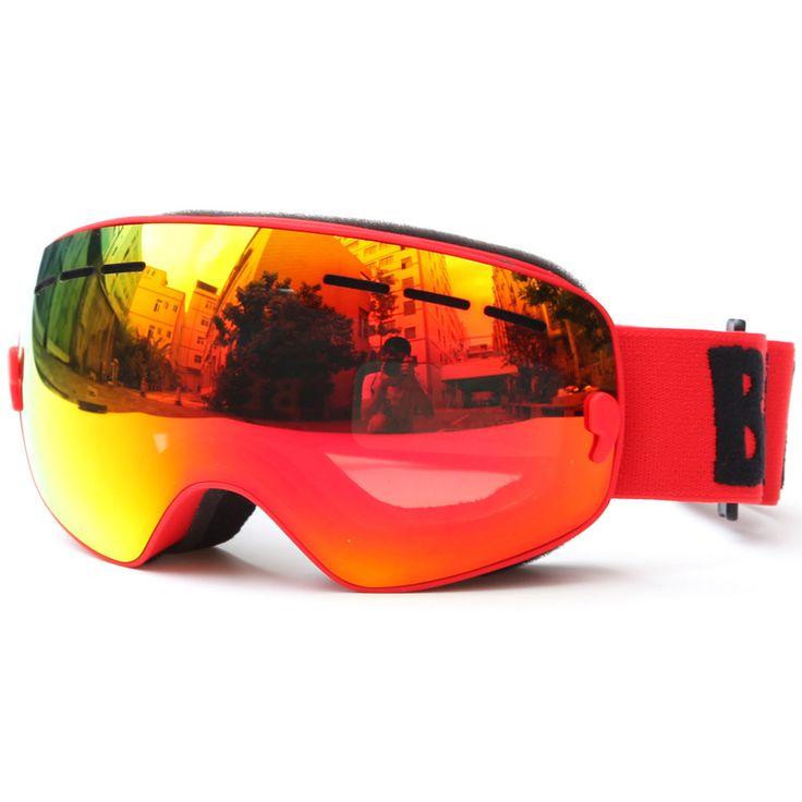 Children Ski Boys Girls Kids Ski Goggles Snowboard Ski Glasses Sunglasses Anti-fog Wide Spherical PC Lens Skate Anti-UV Glasses