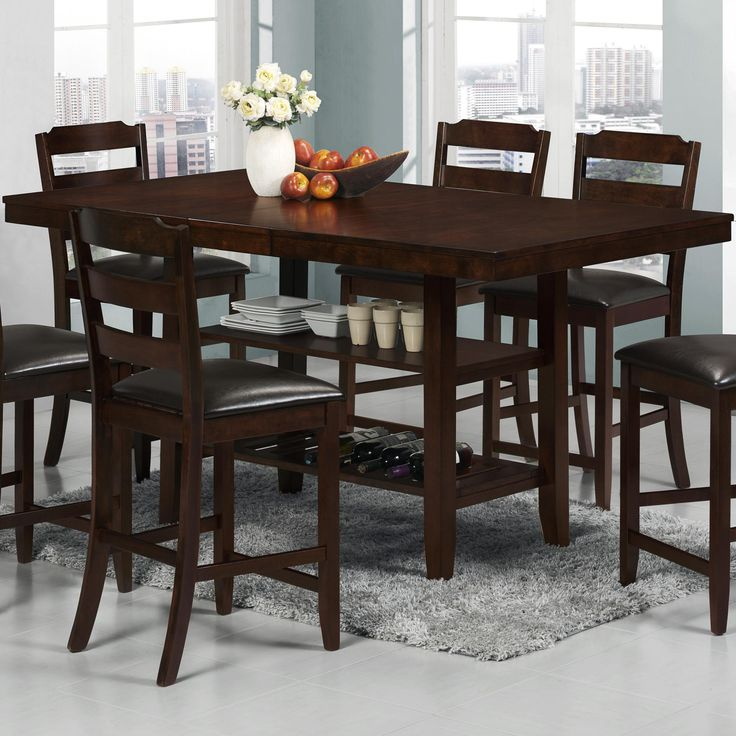 Katrina Counter Height Table By Crown Mark
