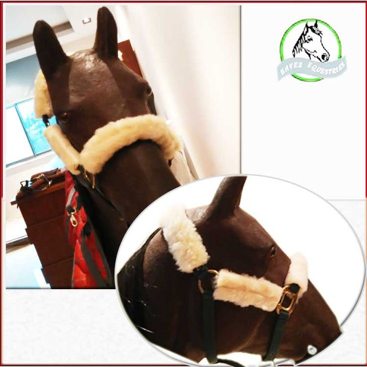The leading horse protection sleeve lamb fleece material face head guard nasal horses bridle set equipment Equestrian supplies