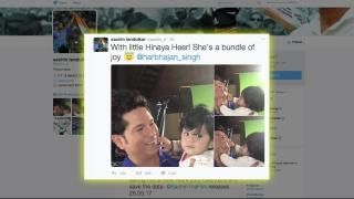 Master Blaster @SachinTendulkar spent some adorable time with #HarbhajanSingh daughter #Hinaya. #SachinTendulkar shared some moments he spent with little cutie pie and smiling happily. | @iansindia @veblr  #News #Entertainment #TopNes #VideoViral