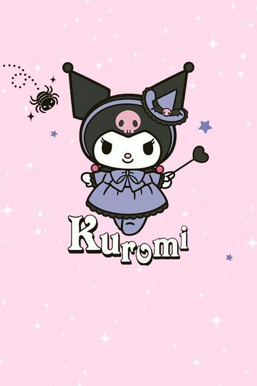 pink, kuromi, and 可愛い image