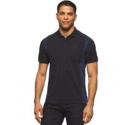 Calvin Klein Colorblocked Liquid-Cotton Interlock Polo Shirt Mens Style  Fashion Mens Clothing: #