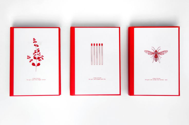 Stieg Larsson, Millenium trilogy | book design on Behance