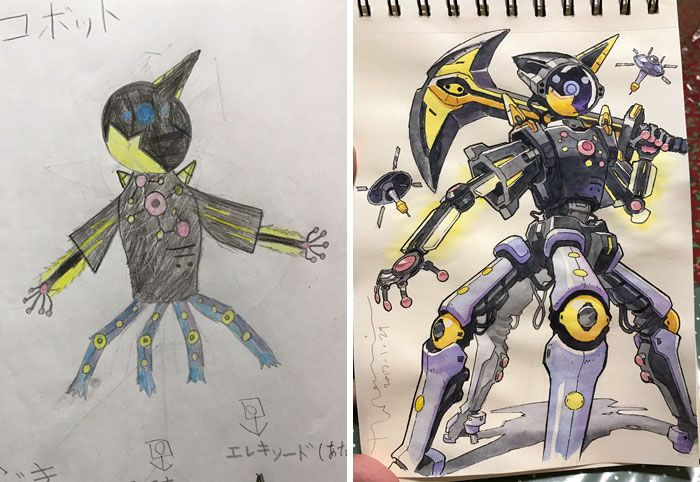 Cosmic Robot  Dad turns son's drawings into anime characters!
