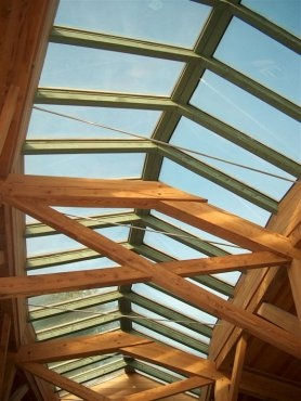 Roof glazing detail at Maples Restaurant at Westonbirt Arboretum/by Roderick James Architects