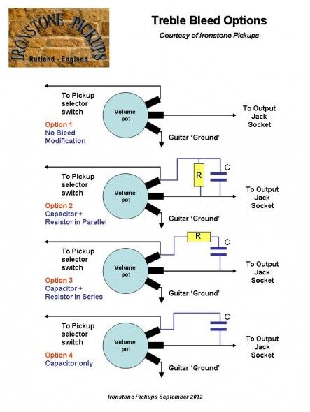 Telecaster Wiring Diagram Treble Bleed  With Images