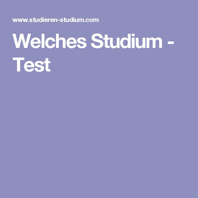 Welches Studium - Test