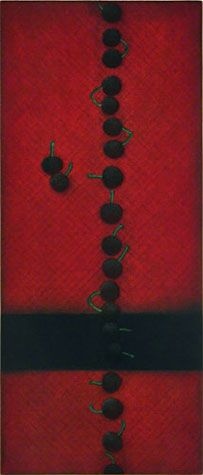 Yozo Hamaguchi. Twenty-Two Cherries, 1988-1991. Color Mezzotint. Edition 23/35. Signed in pencil. Reference: H. 178-4-V. Number V from the e.e. cummings suite, 'Women and Men (both little and small)'. 21-1/2 x 9-3/8 inches. 28251c $6000