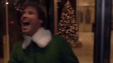 will ferrell elf christmas movies revolving door #humor #hilarious #funny #lol #rofl #lmao #memes #cute