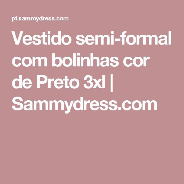 Vestido semi-formal com bolinhas cor de Preto 3xl | Sammydress.com