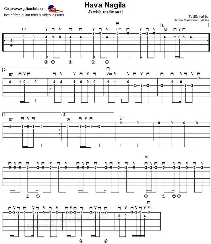 воротниковой области хава нагила аккорды для гитары доставка заказа