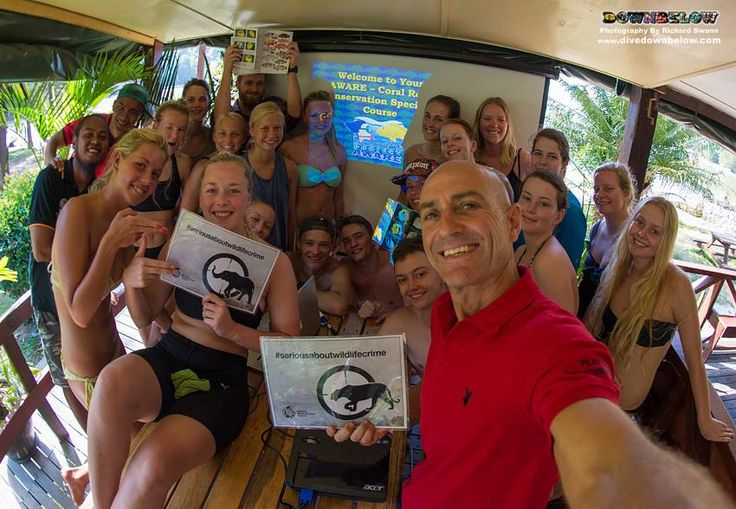 @ProjectAWARE divers #seriousaboutwildlifecrime @divedownbelow! :D