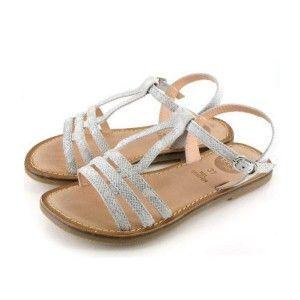 Sandalias niñas piel tiras blancas Gioseppo