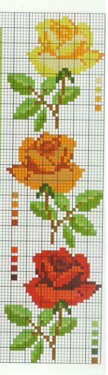 floral cross stitch - roses