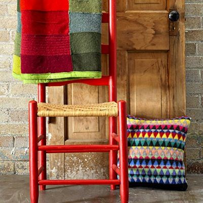 Recycled sweater throw blanket!